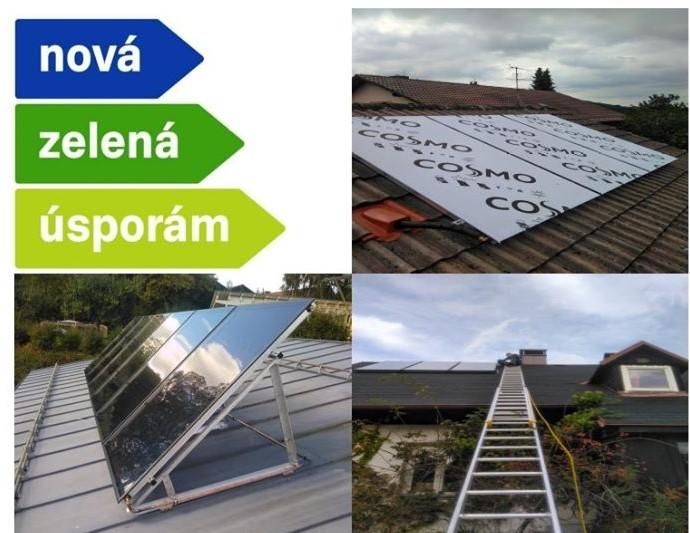 Nově nabízíme montáž, a servis solárních termických soustav.